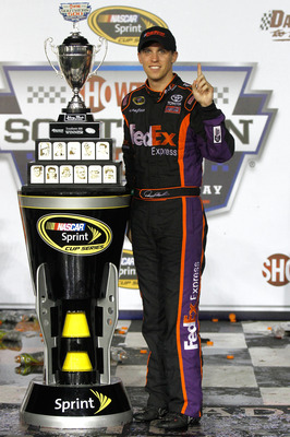 Denny Hamlin has the edge in the NASCAR trophy department this season.