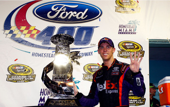 Denny Hamlin will end the Hendrick Motorsports stranglehold on the NASCAR Sprint Cup this weekend.