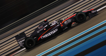 ABU DHABI, UNITED ARAB EMIRATES - NOVEMBER 12:  Christian Klien of Austria and Hispania Racing Team drives during practice for the Abu Dhabi Formula One Grand Prix at the Yas Marina Circuit on November 12, 2010 in Abu Dhabi, United Arab Emirates.  (Photo