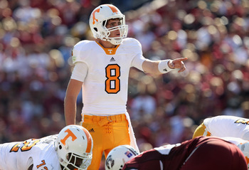 Tyler Bray has led the Tennessee offense to over 50 points in their last two games.
