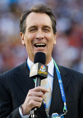 TAMPA, FL - FEBRUARY 01:  NBC football analyst Cris Collinsworth participates in the NBC pregame show prior to Super Bowl XLIII between the Arizona Cardinals and the Pittsburgh Steelers on February 1, 2009 at Raymond James Stadium in Tampa, Florida.  (Pho