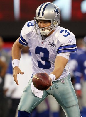 EAST RUTHERFORD, NJ - NOVEMBER 14:  Jon Kitna #3 of the Dallas Cowboys in action against the New York Giants on November 14, 2010 at the New Meadowlands Stadium in East Rutherford, New Jersey. The Cowboys defeated the Giants 33-20.  (Photo by Jim McIsaac/