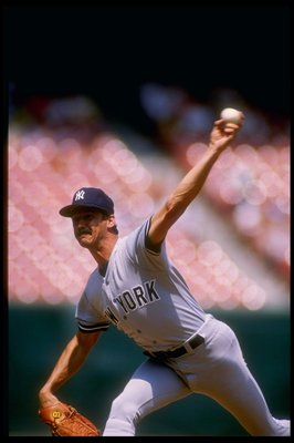 1987:  Ron Guidry of the New York Yankees in action during a game. Mandatory Credit: Tim de Frisco  /Allsport