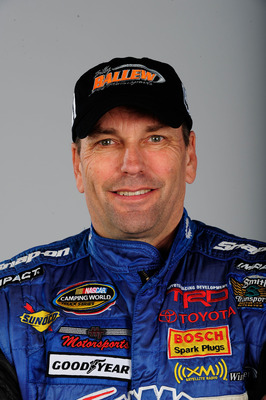 DAYTONA BEACH, FL - FEBRUARY 10:  Ted Musgrave poses during NASCAR Camping World Truck Series portraits at Daytona International Speedway on February 10, 2010 in Daytona Beach, Florida.  (Photo by Sam Greenwood/Getty Images for NASCAR)