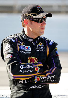 MARTINSVILLE, VA - OCTOBER 22: Matt Kenseth, driver of the #17 Crown Royal Black Ford, stands on pit road during qualifying for the NASCAR Sprint Cup Series TUMS Fast Relief 500 at Martinsville Speedway on October 22, 2010 in Martinsville, Virginia.  (Pho