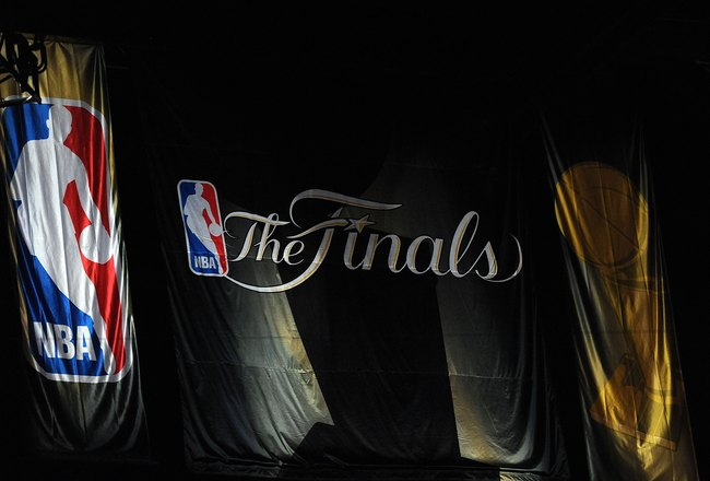 LOS ANGELES, CA - JUNE 17:  A banner hangs from the walls of Staples Center before Game Seven of the 2010 NBA Finals between the Boston Celtics and the Los Angeles Lakers on June 17, 2010 in Los Angeles, California.  NOTE TO USER: User expressly acknowled