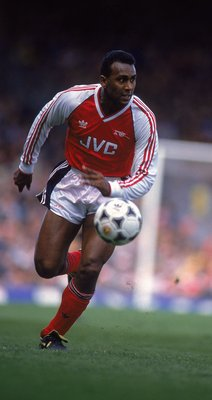 15 Apr 1989:  David Rocastle of Arsenal runs with the ball during the Barclays League Division One match against Newcastle United played at Highbury, in London. Arsenal won the match 1-0. \ Photo taken by Roger Labrosse \ Mandatory Credit: Allsport UK /Al