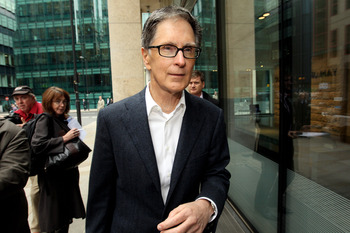 LONDON, ENGLAND - OCTOBER 15:  John W. Henry , the owner of New England Sports Ventures, arrives at the offices of the law firm Slaughter and May on October 15, 2010 in London, England. The future ownership of the famous football club has been subject to