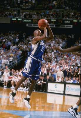 5 Feb 1998:  Guard William Avery of the Duke Blue Devils in action during a game against the North Carolina Tar Heels at the Dean Smith Center in Chapel Hill, North Carolina.  North Carolina defeated Duke 97-73. Mandatory Credit: Andy Lyons  /Allsport