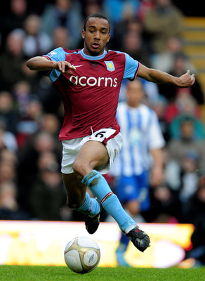 BIRMINGHAM, ENGLAND - JANUARY 23:  Fabian Delph of Aston Villa in action during the FA Cup sponsored by E.ON 4th Round match between Aston Villa and Brighton & Hove Albion at Villa Park on January 23, 2010 in Birmingham, England.  (Photo by Clive Mason/Ge