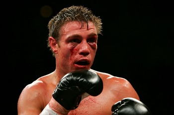 LAS VEGAS - JULY 21:  Michael Katsidis of Australia looks on during his fight against Czar Amonsot of the Philippines during their WBO interim lightweight championship fight at the Mandalay Bay Events Center July 21, 2007 in Las Vegas, Nevada.  (Photo by