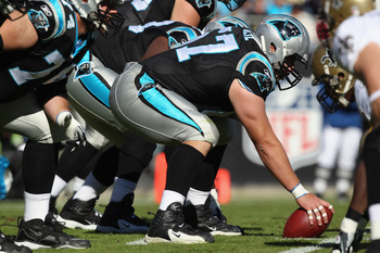 Ryan Kalil against the New Orleans Saints earlier in the season