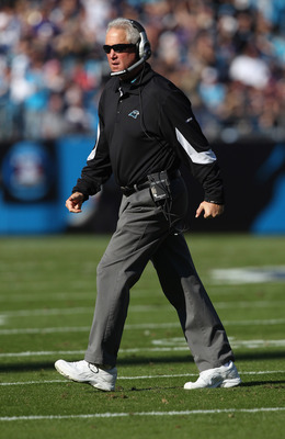 John Fox, ready for action on Sunday against the Baltimore Ravens in Charlotte's Bank of America stadium.