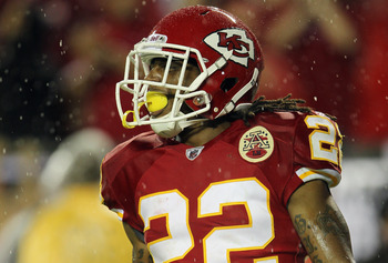 KANSAS CITY, MO - SEPTEMBER 13:  Dexter McCluster #22 of the Kansas City Chiefs in action during the game against the San Diego Chargers on September 13, 2010 at Arrowhead Stadium in Kansas City, Missouri.  (Photo by Jamie Squire/Getty Images)