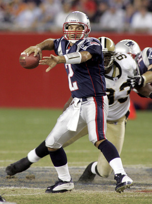 FOXBORO, MA - AUGUST 18:  Quarterback Doug Flutie #2 of the New England Patriots looks to pass against the New Orleans Saints at Gillette Stadium on August 18, 2005 in Foxboro, Massachusetts. The Saints won the game 37-27.  (Photo by Jim McIsaac/Getty Ima