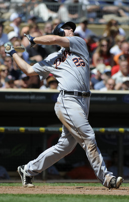 MINNEAPOLIS, MN - JUNE 30: Brennan Boesch #26 of the Detroit Tigers bats in the ninth inning against the Minnesota Twins during their game on June 30, 2010 at Target Field in Minneapolis, Minnesota. Twins won 5-1. (Photo by Hannah Foslien /Getty Images)
