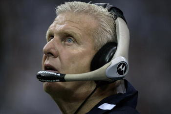 DALLAS - SEPTEMBER 17:  Head coach Bill Parcells of the Dallas Cowboys coaches against the Washington Redskins at Texas Stadium in Dallas, Texas on September 17, 2006. Dallas won 27 - 10.  Parcells is viewed as a legendary NFL coach with two Super-Bowl vi