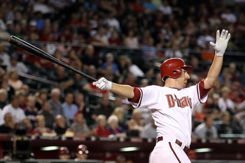 PHOENIX - SEPTEMBER 24:  Adam LaRoche #25 of the Arizona Diamondbacks bats against the Los Angeles Dodgers during the Major League Baseball game at Chase Field on September 24, 2010 in Phoenix, Arizona.  (Photo by Christian Petersen/Getty Images)
