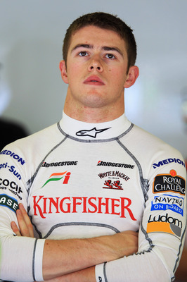 BUDAPEST, HUNGARY - JULY 30:  Paul Di Resta of Great Britain and Force India is seen during practice for the Hungarian Formula One Grand Prix at the Hungaroring on July 30, 2010 in Budapest, Hungary.  (Photo by Mark Thompson/Getty Images)