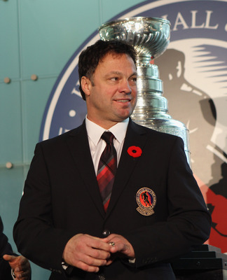 TORONTO, ON - NOVEMBER 08:  Hockey Hall of Fame inductee Dino Ciccarelli appears at a media opportunity prior to his induction ceremony at the Hockey Hall of Fame on November 8, 2010 in Toronto, Canada.  (Photo by Bruce Bennett/Getty Images)
