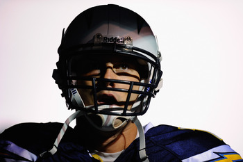 SAN DIEGO - NOVEMBER 22:  Quarterback Philip Rivers #17 of the San Diego Chargers prior to the start of the NFL football game against Denver Broncos at Qualcomm Stadium on November 22, 2010 in San Diego, California.  (Photo by Kevork Djansezian/Getty Imag