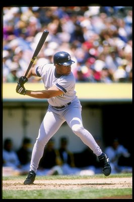 30 Apr 1994:  Outfielder Danny Tartabull of the New York Yankees in action during a game against the Oakland Athletics at Oakland Alameda County Coliseum in Oakland, California.  Mandatory Credit: Otto Greule  /Allsport