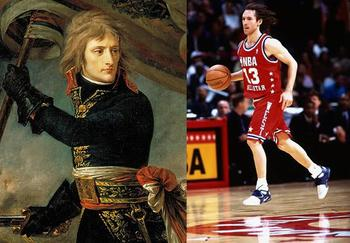 Napoleon at the Battle of Arcole. Nash goes to 2 All-Star games as a Mav.