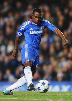 LONDON, ENGLAND - NOVEMBER 23: Gael Kakuta of Chelsea in action during the UEFA Champions League Group F match between Chelsea and MSK Zilina at Stamford Bridge on November 23, 2010 in London, England.  (Photo by Mike Hewitt/Getty Images)