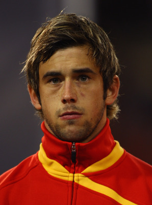 BRUSSELS, BELGIUM - OCTOBER 15:  Steven Defour of Belgium lines up for the National Anthems prior to the FIFA 2010 World Cup Group 5 Qualifier between Belgium and Spain at the King Baudouin Stadium on October 15, 2008 in Brussels, Belgium.  (Photo by Mike
