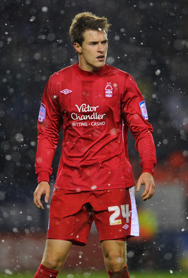 LEICESTER, ENGLAND - NOVEMBER 29: Aaron Ramsey of Notts Forest looks on during the npower Championship match between Leicester City and Nottingham Forest at the Walkers Stadium on November 29, 2010 in Leicester, England.  (Photo by Michael Regan/Getty Ima