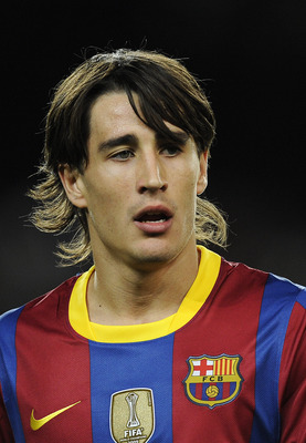 BARCELONA, SPAIN - OCTOBER 30:  Bojan Krkic of Barcelona looks on during the La Liga match between Barcelona and Sevilla FC on October 30, 2010 in Barcelona, Spain. Barcelona won the match 5-0.  (Photo by David Ramos/Getty Images)
