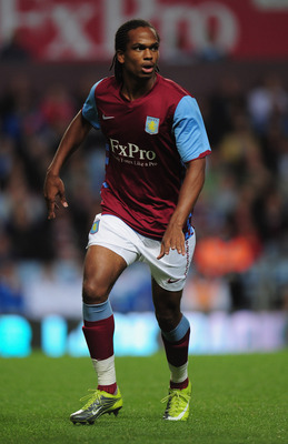 BIRMINGHAM, ENGLAND - AUGUST 06:  Nathan Delfouneso of Aston Villa in action during the friendly match between Aston Villa and Valencia at Villa Park on August 6, 2010 in Birmingham, England.  (Photo by Shaun Botterill/Getty Images)
