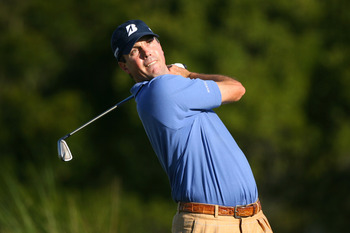 SEA ISLAND, GA - OCTOBER 7 : Matt Kuchar hits his tee shot on the 17th hole during the first round of the McGladrey Classic at Sea Island Seaside Course on October 7, 2010 in Sea Island, Georgia. (Photo by Hunter Martin/Getty Images)
