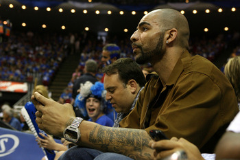 ORLANDO, FL - MAY 16:  Carlos Boozer of the Utah Jazz attends Game One of the Eastern Conference Finals between the Orlando Magic and the Boston Celtics during the 2010 NBA Playoffs at Amway Arena on May 16, 2010 in Orlando, Florida.  NOTE TO USER: User e