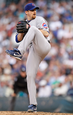 SEATTLE - JUNE 22:  Starting pitcher Ryan Dempster #46 of the Chicago Cubs pitches against the Seattle Mariners on June 22, 2010 at Safeco Field in Seattle, Washington. (Photo by Otto Greule Jr/Getty Images)