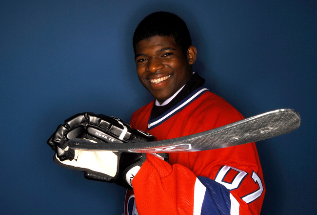 COLUMBUS, OH - JUNE 23:  43rd overall draft pick P.K. Subban of the Montreal Candiens poses for a portrait during the 2007 NHL Entry Draft at Nationwide Arena on June 23, 2007 in Columbus, Ohio.  (Photo by Marc Serota/Getty Images)