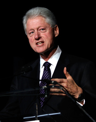 NEW YORK - SEPTEMBER 27:  Former U.S. president Bill Clinton speaks during the 25th Great Sports Legends Dinner to benefit The Buoniconti Fund to Cure Paralysis at The Waldorf=Astoria on September 27, 2010 in New York City.  (Photo by Thos Robinson/Getty