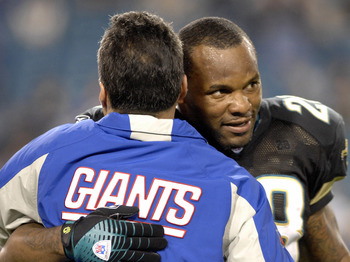 Jacksonville Jaguars running back Fred Taylor after play  against the New York Giants on ESPN Monday Night Football Nov. 20, 2006 in Jacksonville.  The Jaguars won 26 - 10.  (Photo by Al Messerschmidt/Getty Images)