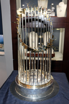 GREENWICH, CT - NOVEMBER 12:  2009 World Series Yankees Trophy at Manfredi Jewels on November 12, 2010 in Greenwich, Connecticut.  (Photo by Donald Bowers/Getty Images for Manfredi Jewels)