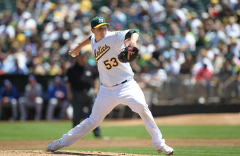 Second year starter Trevor Cahill went 18-8 for the A's in 2010.