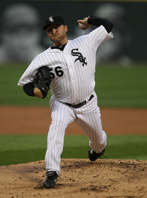 CHICAGO - AUGUST 25: Starting pitcher Mark Buehrle #56 of the Chicago White Sox delivers the ball against the Baltimore Orioles at U.S. Cellular Field on August 25, 2010 in Chicago, Illinois. The Orioles defeated the White Sox 4-2. (Photo by Jonathan Dani