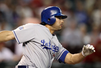 PHOENIX - SEPTEMBER 24:  Andre Ethier #16 of the Los Angeles Dodgers bats during the Major League Baseball game against the Arizona Diamondbacks at Chase Field on September 24, 2010 in Phoenix, Arizona.  The Dodgers defeated the Diamondbacks 3-1.  (Photo