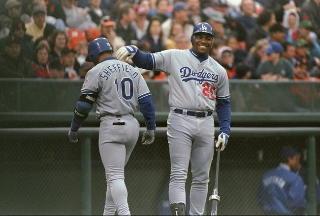 3 Jul 1998:  Bobby Bonilla of the Los Angeles Dodgers in action during a game against the San Francisco Giants at 3COM Park in San Francisco, California.  The Giants won the game, 6-3. Mandatory Credit: Otto Greule Jr.  /Allsport