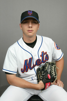 PORT ST. LUCIE, FL - FEBRUARY 29: Pitcher Scott Kazmir #74 of the New York Mets during Spring Training photo day February 29, 2004 in Port St. Lucie, Florida. (Photo by Eliot J. Schechter/Getty Images)