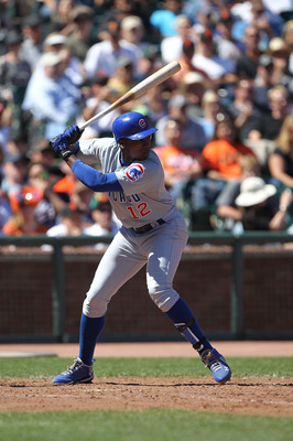 SAN FRANCISCO - AUGUST 12:  Alfonso Soriano #12 of the Chicago Cubs bats against the San Francisco Giants during an MLB game at AT&T Park on August 12, 2010 in San Francisco, California.  (Photo by Jed Jacobsohn/Getty Images)