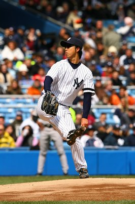 BRONX, NY - APRIL 7:  Kei Igawa #29 of the New York Yankees pitches against the Baltimore Orioles on April 7, 2007 at Yankee Stadium in the Bronx, New York. The Yankees won 10-7. (Photo by Al Bello/Getty Images)