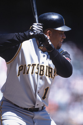 2 Aug 2001:  Third baseman Aramis Ramirez #16 of the Pittsburgh Pirates stands in the batter's box during the MLB game against the San Francisco Giants at Pacific Bell Park in San Francisco, California.  The Giants edged the Pirates 3-2.Mandatory Credit: