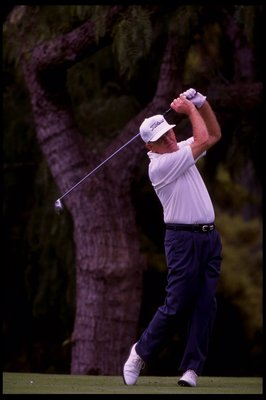 4 MAR 1995:  Gene Littler drives a ball during the FHP Health Care Classic held at Ojai Valley Inn and Country Club in Ojai, California.,Mandatory Credit: Jon Cuban  /Allsport