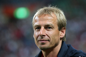 SAITAMA, JAPAN - JULY 31:  Head Coach Juergen Klinsmann of Bayern Muenchen is seen during the pre season friendly between Urawa Red Diamonds and Bayern Muenchen at Saitama Stadium on July 31, 2008 in Saitama, Japan.  (Photo by Koichi Kamoshida/Getty Image