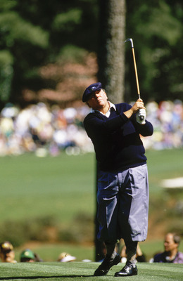 AUGUSTA,GA - APRIL 14: Billy Casper of USA during the final round of the Masters, held at The Augusta National Golf Club on April 14, 1985 in Augusta, GA.  (Photo by David Cannon/Getty Images)